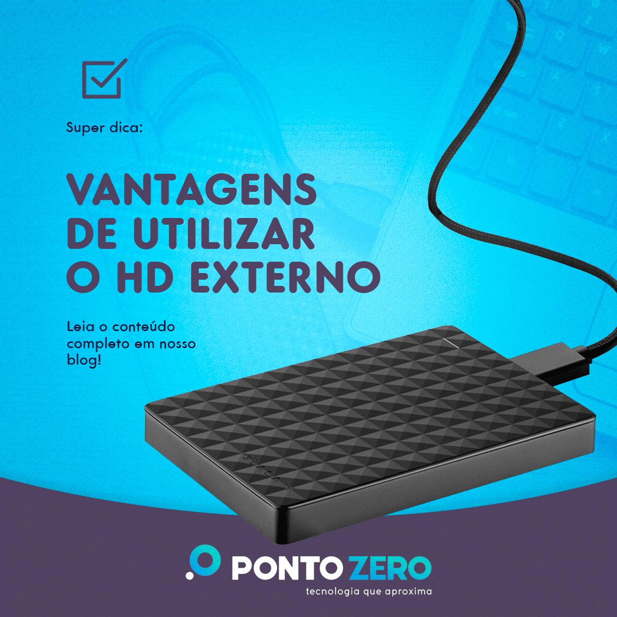 Vantagens de utilizar o HD externo para armazenamento